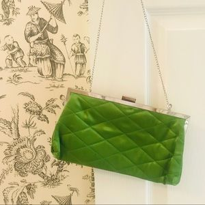 *FREE* Shiraleah Green Satin Clutch